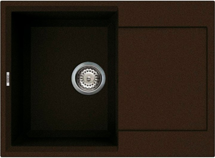 Кухонная мойка ELLECI Easy 135 Espresso 78 - изображение 1