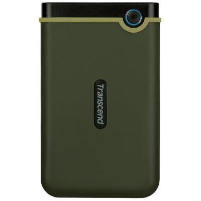 "Накопичувач Transcend StoreJet 25M3G 2TB 2.5"" USB 3.1 Military Green (TS2TSJ25M3G) - зображення 1"