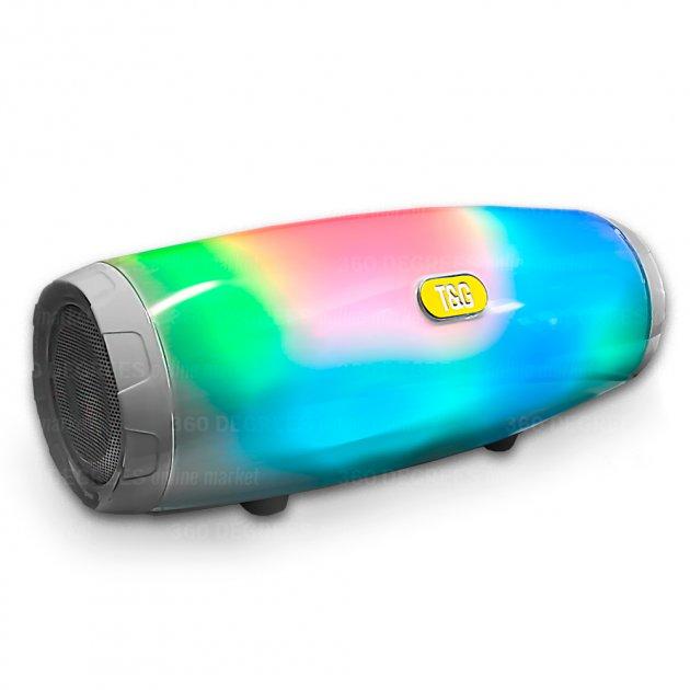Bluetooth-колонка з LED підсвічуванням TG-165, Потужністю 10W, Акумулятор 1200mAh Синій - зображення 1