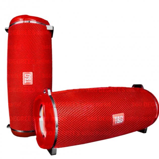 Bluetooth-колонка с LED подсветкой TG-165 10W, Аккумулятор 1200mAh Красный - изображение 1