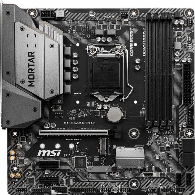 Материнська плата MSI MAG B365M MORTAR (s1151, Intel B365, PCI-Ex16) - зображення 1