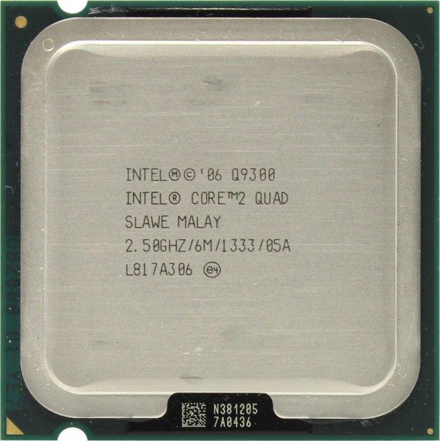 Процесор Intel Core 2 Quad Q9300 2.50 GHz/6M/1333 (SLAWE) s775, tray - зображення 1