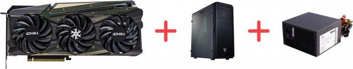 INNO3D PCI-Ex GeForce RTX 3070 iChill X4 8GB GDDR6 (256bit) (1785/14000) (HDMI, 3 x DisplayPort) (C30704-08D6X-1710VA35 + CMT110A + ATX-500PNR PRO) + Корпус FSP CMT110A Black + Блок питания FSP ATX-500PNR PRO 500W в подарок! - изображение 1