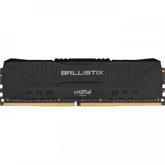 Модуль пам'яті Crucial DDR4 8Gb Ballistix Black 3200 MHz (BL8G32C16U4B) - зображення 1