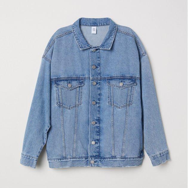 Джинсовий куртка H&M 5820778-ACXD 32 Синя (DD3000000860229) - зображення 1