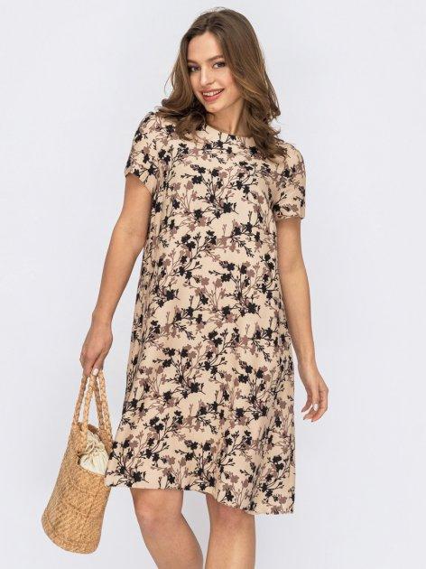 Платье Dressa 53763 46 Бежевое (2000405739268_D) - изображение 1