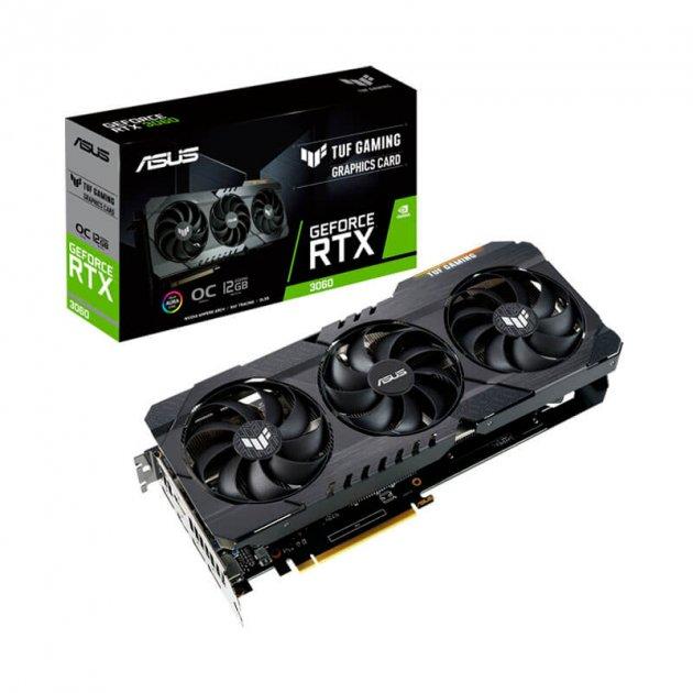 Відеокарта GF RTX 3060 12GB GDDR6 TUF Gaming OC Asus (TUF-RTX3060-O12G-GAMING) - зображення 1