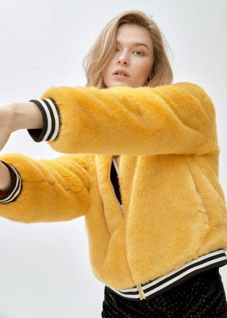 Спортивна куртка зі штучного хутра molliolli SUNNY JACKET yellow, L, MW9WJK02Xy - изображение 1