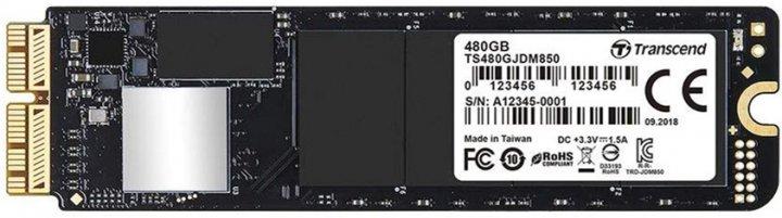 Transcend JetDrive 850 480GB M.2 2280 PCIe 3.0 x4 3D NAND TLC (TS480GJDM850) - изображение 1