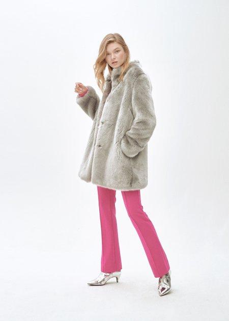 Пальто зі штучного хутра molliolli CATHERINE JACKET, L, сіре, MW9WJK11X - изображение 1