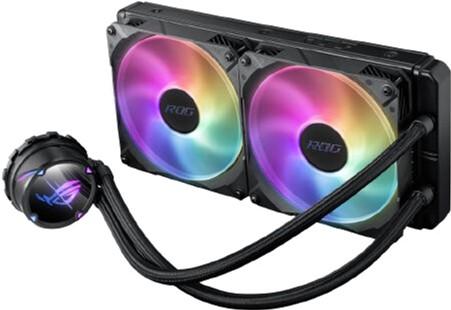 Система рідинного охолодження Asus ROG Strix LC II 280 Aura Sync ARGB 2x140 мм Fan (ROG-STRIX-LC-II-280-ARGB) - зображення 1