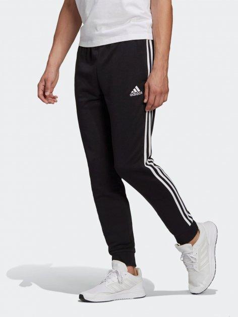 Спортивные штаны Adidas M 3S Ft Tc Pt GK8831 L Black/White (4062065171602) - изображение 1