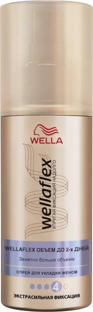 Спрей для укладки Wella Wellaflex Объем до 2-х дней феном экстрасильной фиксация 150 мл (8699568541531) - изображение 1