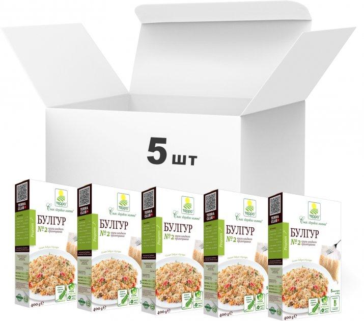 Упаковка крупы Терра Булгур №2 быстрого приготовления в варочном пакете 400 г х 5 шт (4820015737250) - изображение 1