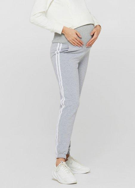Спортивні штани з лампасами для вагітних Lullababе Lublin Меланж XXL - зображення 1