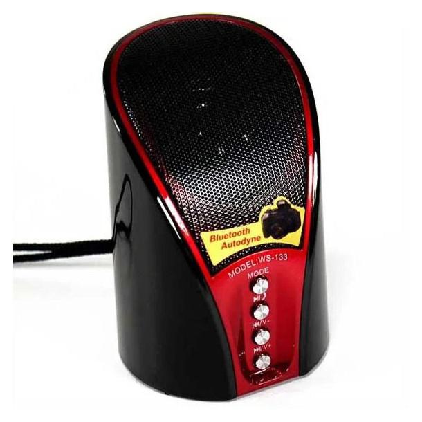 Колонка акустическая SPS WS 133+BT, с FM приемником, красная - изображение 1
