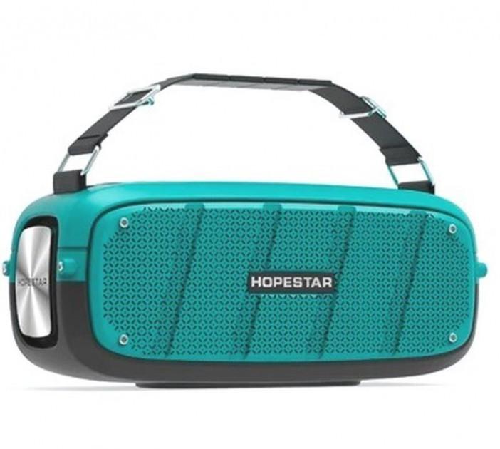 Портативна колонка Hopestar A20 PRO (55W) Bluetooth Акустична стерео система з функцією TWS + мікрофон Turquoise - зображення 1
