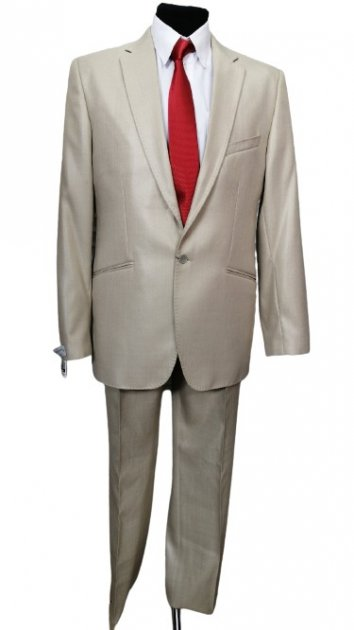 Чоловічий костюм West-Fashion 527 бежевий 50,188 - зображення 1