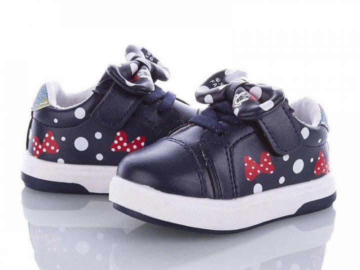 Кроссовки для девочек W.niko 21JD3000-3 Темно-синий 21 - изображение 1