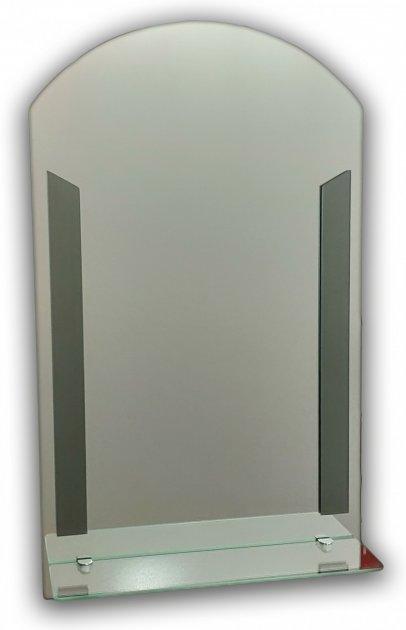 Зеркало с полочкой полуарка Seria A №Полоса (675х500х120 мм) - изображение 1