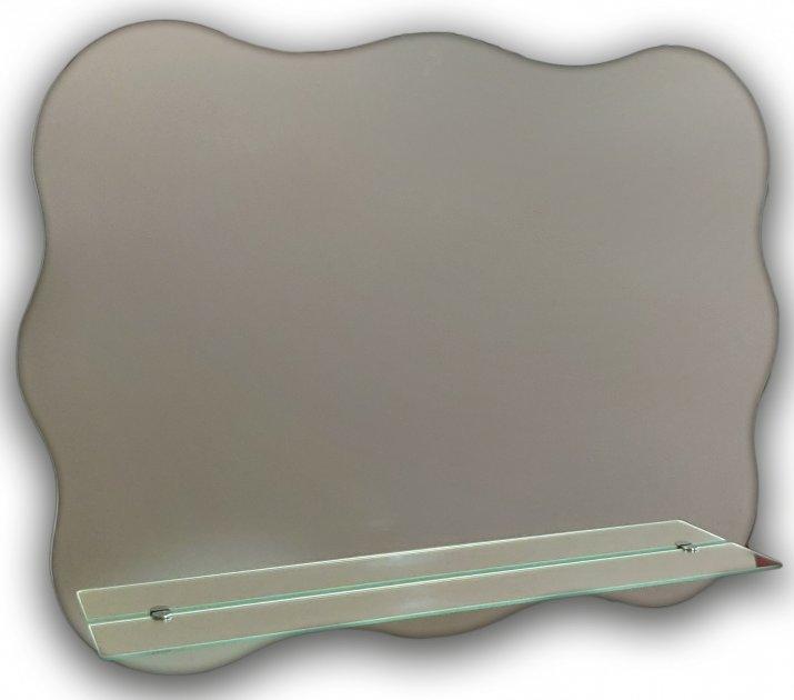 Зеркало фигурное в ванную с полочкой Seria A №23 (595х795x120 мм) - изображение 1