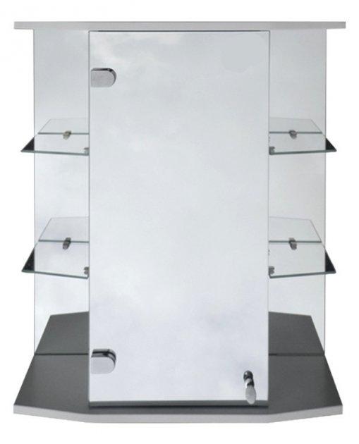 Дзеркальна шафа для ванної Seria A № А09-60 з відкритими бічними полицями - зображення 1