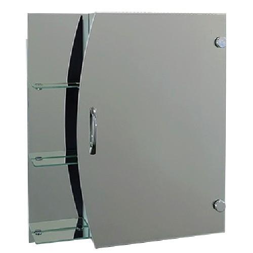 """Зеркальный шкаф с боковыми полками Seria A """"Эконом"""" №57 (650 x 550 x 130) - изображение 1"""