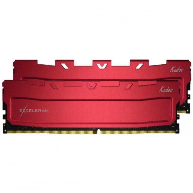 Модуль пам'яті для комп'ютера DDR4 32GB (2x16GB) 2400 MHz Red Kudos eXceleram (EKRED4322415CD) - зображення 1