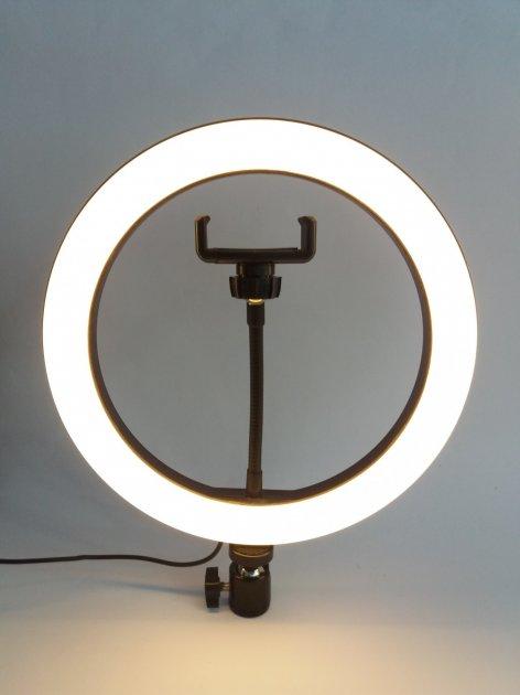 Кільцева світлодіодна лампа Ring Fill Light діаметром 26 см з кріпленням для смартфона - зображення 1