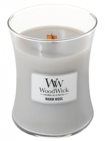 Ароматична свіча WoodWick Medium Warm Wool 275 г - изображение 1