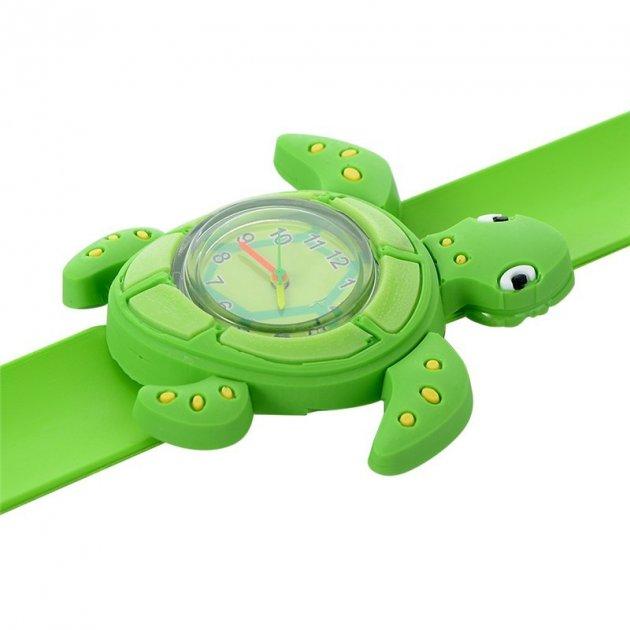 Годинник дитячі White city наручні Черепаха силіконові зелені - зображення 1