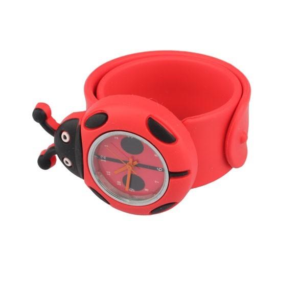 Годинник дитячі White city наручні Божа корівка силіконові червоні - зображення 1