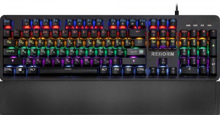 Клавіатура дротова Defender Reborn GK-165DL USB Black (45165) - зображення 1