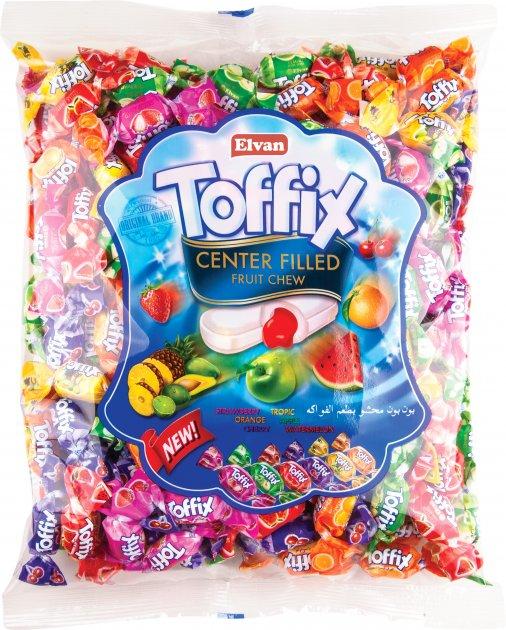 Упаковка жевательных конфет Elvan Toffix Mix 1 кг (8693029030077) - изображение 1