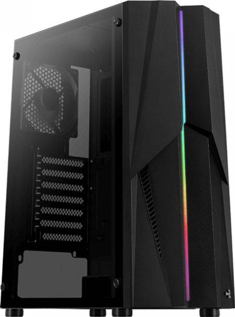 Корпус Aerocool Mecha Black Mid Tower RGB Glass side panel (Mecha-G-BK-v1) - изображение 1