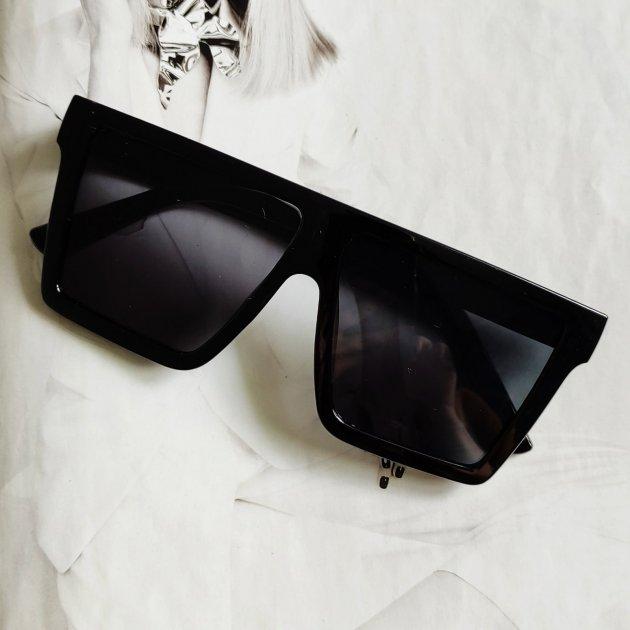 Солнцезащитные очки квадрат черный глянцевый - изображение 1