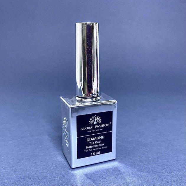 Топ без липкого шару для гель-лаку Global Fashion Top-Diamond 15 мл - зображення 1