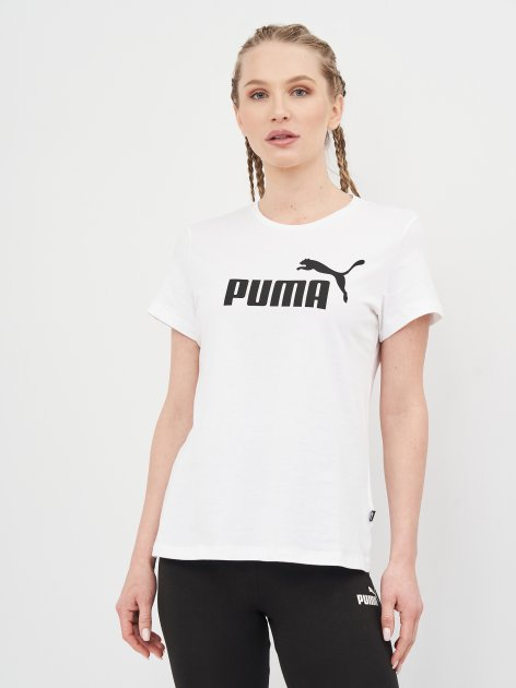 Футболка Puma Ess Logo Tee 58677402 S White (4063697275041) - изображение 1