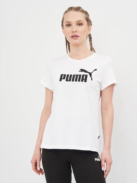 Футболка Puma Ess Logo Tee 58677402 XL White (4063697275072) - изображение 1