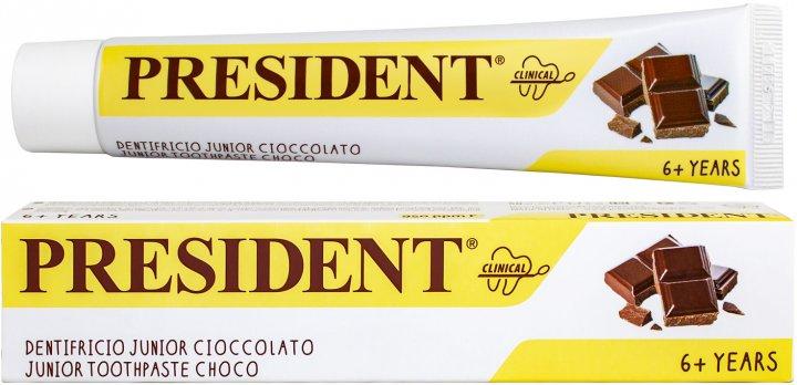 Детская зубная паста President Clinical Junior Шоколад от 6 лет 50 мл (8030009708302) - изображение 1