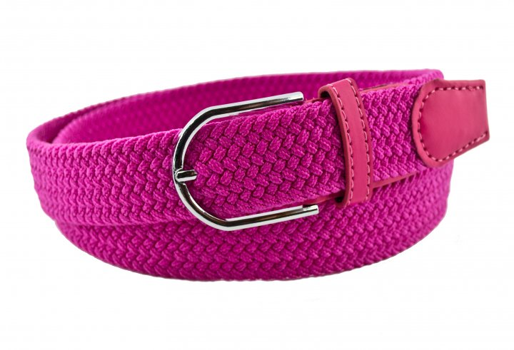 Женский плетеный ремень резинка NA 3.5 см для джинсов розовый 65-135 см (NA13835) - изображение 1