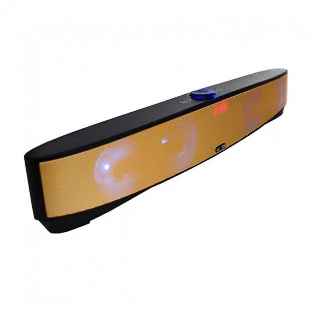 Мощная портативная акустическая стерео колонка (акустическая система) Hopestar MLL-209 Bluetooth USB FM Gold - зображення 1
