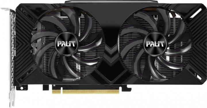 Palit PCI-Ex GeForce RTX 2060 Dual 6GB GDDR6 (192bit) (1680/14000) (DVI-D Dual Link, HDMI, DisplayPort) (NE62060018J9-1160A-1) - зображення 1