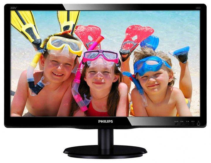 """Монитор Philips 19.53"""" 200V4QSBR/00 MVA Black - изображение 1"""