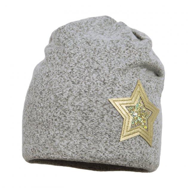 Шапка демисезонная Broel 51/53 Серый-золотой DELHI - изображение 1