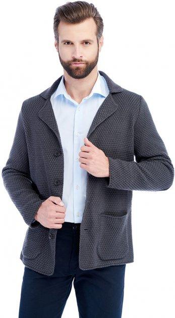 Чоловічий кардиган-піджак SVTR 392 50 Темно-сірий (SVTR 392_2) - зображення 1