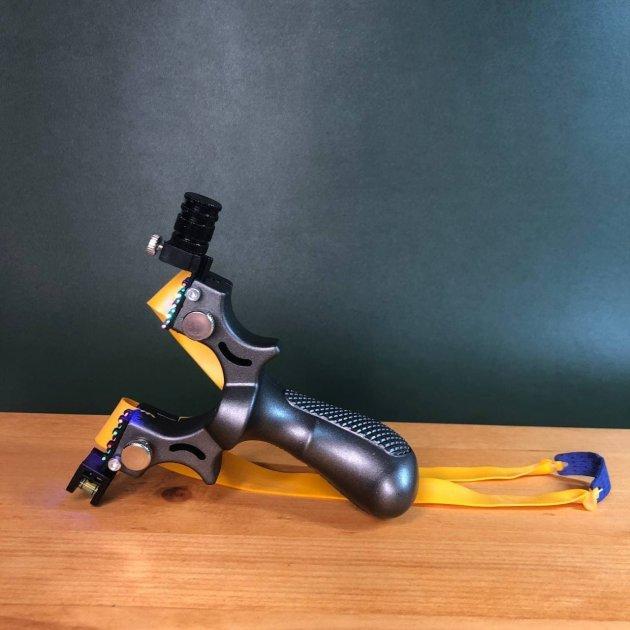 Рогатка для охоты с прицелом DEXT   Мощная боевая рогатка Охотничья рогатка Тактическая рогатка - изображение 1