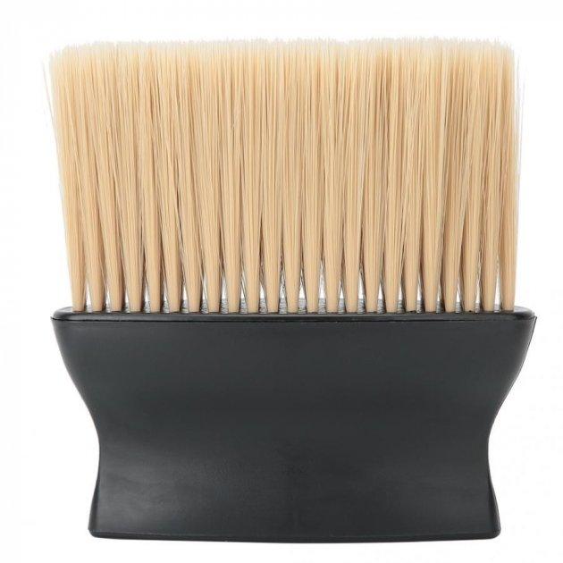 Сметка-щетка для парикмахера, барбера с пластиковой ручкой Barber Shop Black - изображение 1