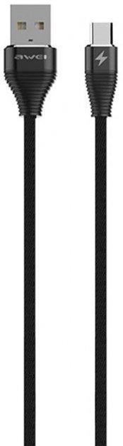 Кабель Awei CL-29 Type-C Cable 2 м Black (FSH101123) - зображення 1