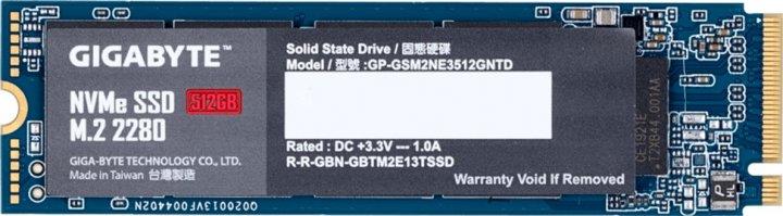 Gigabyte 512GB M.2 2280 NVMe PCIe 3.0 x4 NAND TLC (GP-GSM2NE3512GNTD) - зображення 1